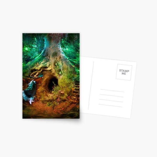 Down the Rabbit Hole Postcard