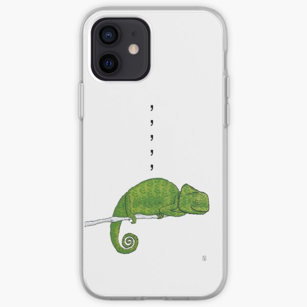 Comma, Comma, Comma Chameleon iPhone Soft Case