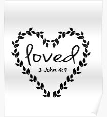 Bible Verse LOVE 1 John 4:9 Poster