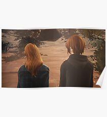 Chloe & Rachel Sharing Earbuds - Life is Strange Poster