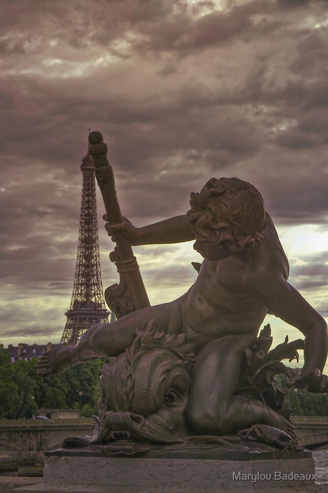 Nymph of Pont Alexandre III  by Marylou Badeaux