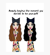 Beauty begins the moment you decide to be yourself Photographic Print
