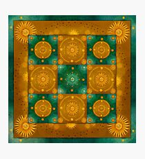 """Moroccan chess Celestial & Ocher Pattern"" Photographic Print"