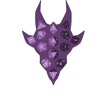 Dice Dragon - Purple by DinobotTees