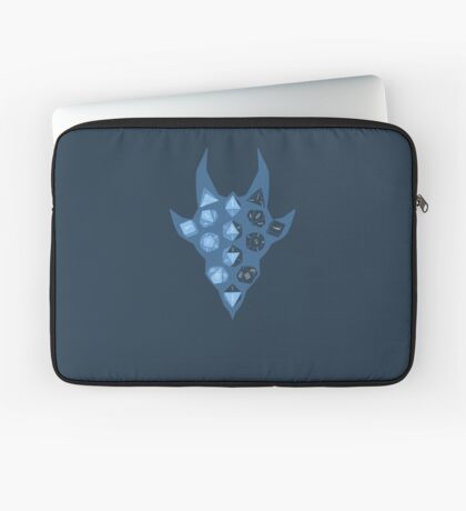 Dice Dragon - Blue Laptop Sleeve