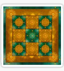 """Moroccan chess Celestial & Ocher Pattern"" Sticker"