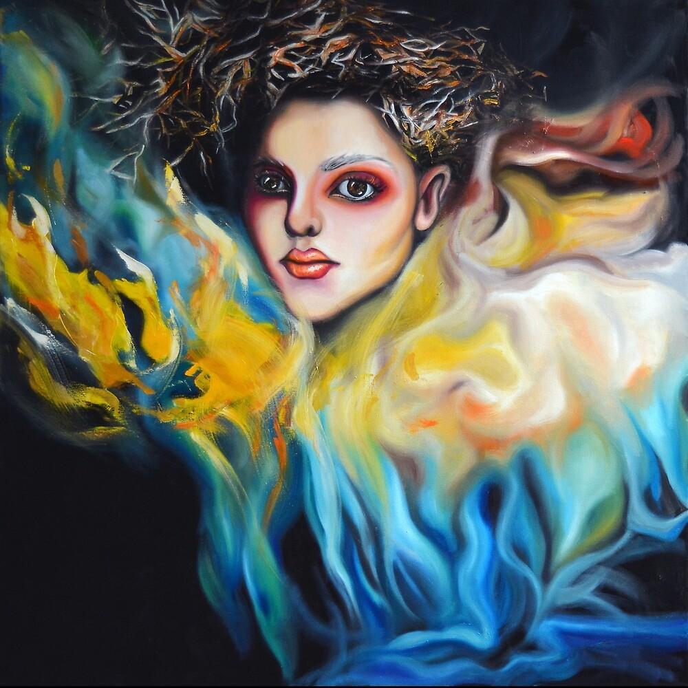My feelings will always shine, 100-100cm, 2017, oil on canvas by oanaunciuleanu