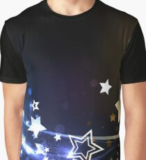 Abstract background with contrasting stars Graphic T-Shirt
