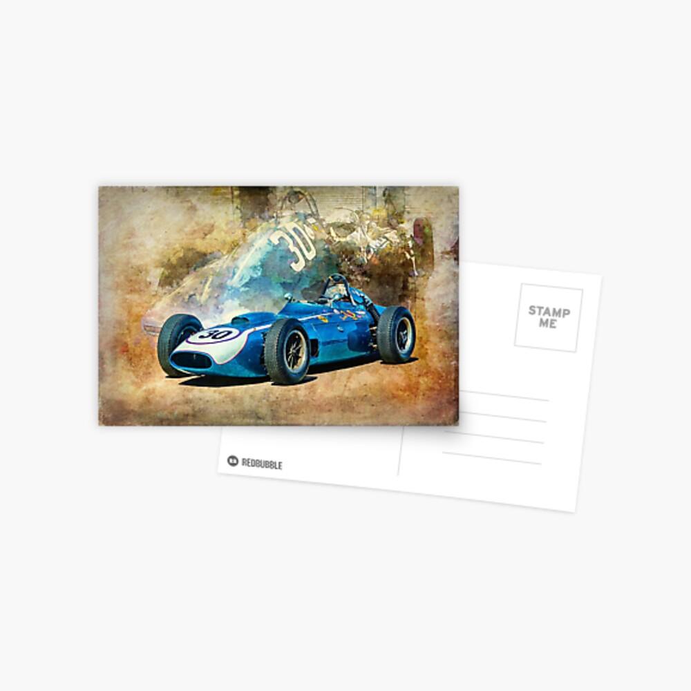 1960 Scarab F1 Car Postcard