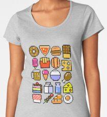 8 bit Foodie v2 Distressed Women's Premium T-Shirt