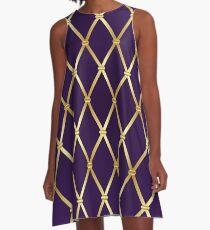 Mardi Gras background. A-Line Dress
