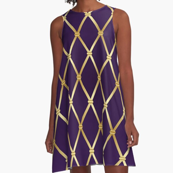 Mardi Gras background. A-Line Dress