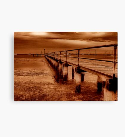 """Griffins Gully Jetty"" Canvas Print"