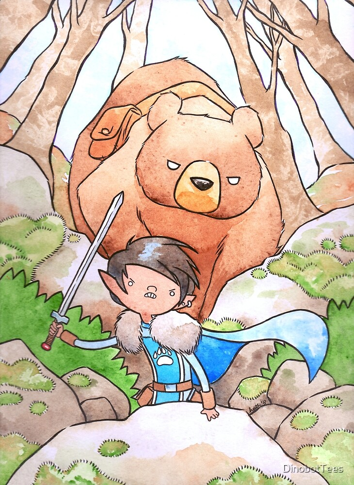 A Boy and his Bear by DinobotTees