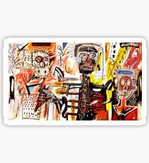 Jean-Michel Basquiat - Philistines 1982 Sticker