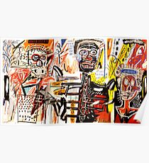Jean-Michel Basquiat - Philistines 1982 Poster
