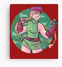 cammy (street fighter) Canvas Print