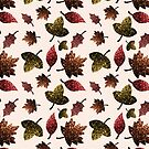 Sparkly leaves fall autumn sparkles pattern by PLdesign