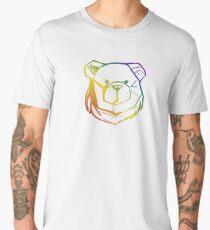 ROBUST BEAR FACE RAINBOW 03 Men's Premium T-Shirt