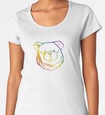 ROBUST BEAR FACE RAINBOW 03 Women's Premium T-Shirt