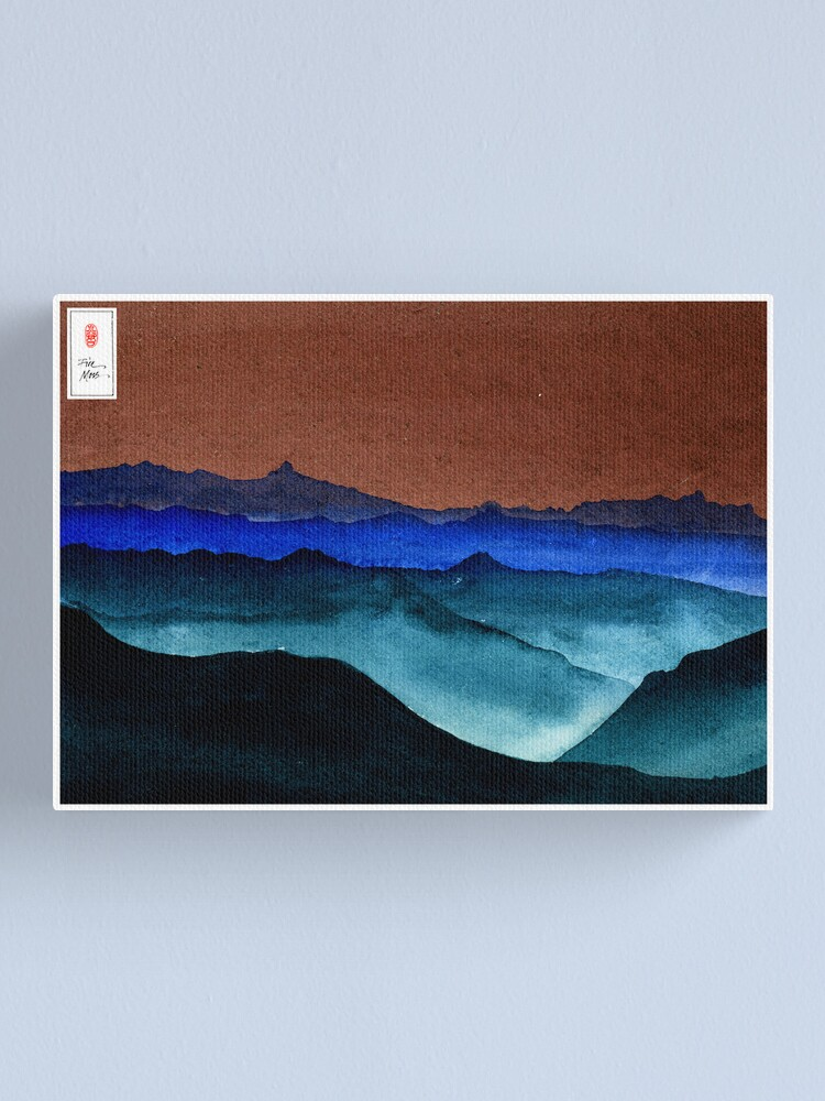 Alternate view of Shades of Mountains Canvas Print