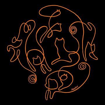 Cat Yarn Pumpkin by kookylane