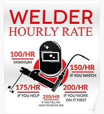70331879 Hourly Rate Posters | Redbubble