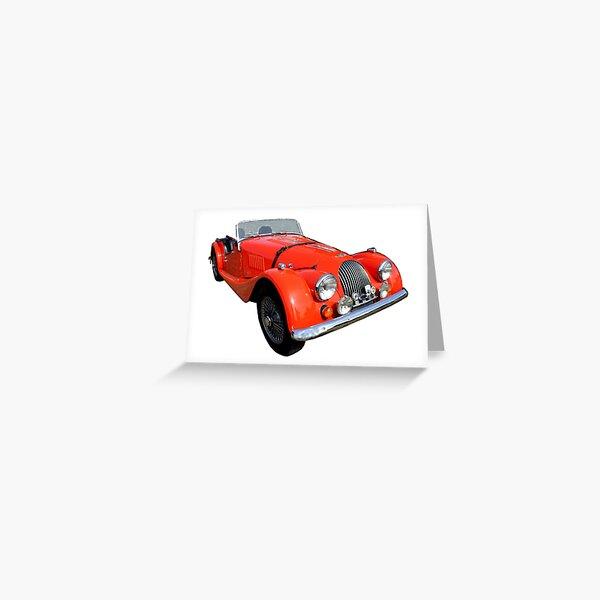 Morgan Vintage Car Automobile Classic Greeting Card