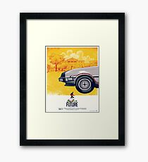 Back to the Future - Retro Poster Framed Print