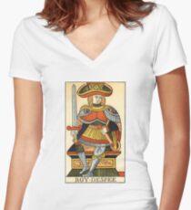 King Of Swords Women's Fitted V-Neck T-Shirt
