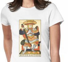 King Of Wands Womens Fitted T-Shirt
