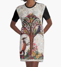 Vestido camiseta zorro y cuervo