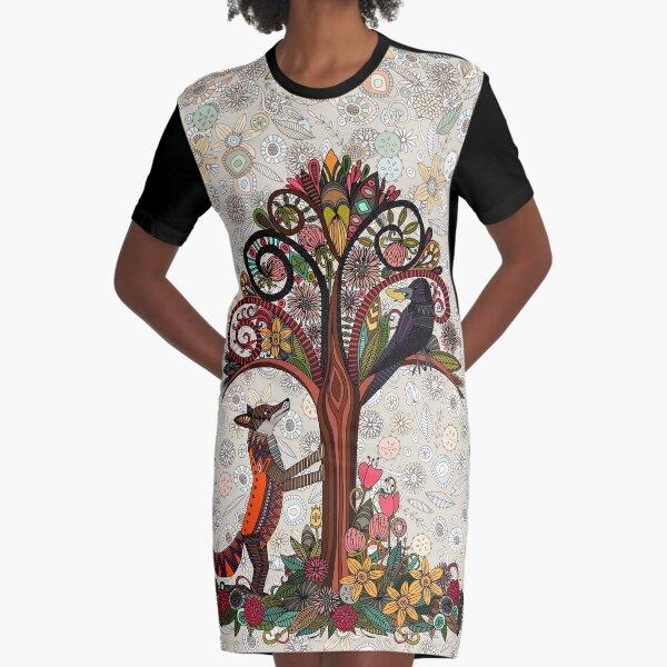 renard et corbeau Robe t-shirt