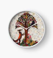 fox and crow Clock