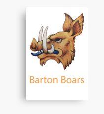 Barton College Boars Canvas Print