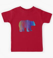 Rainbow Watercolor Dripping  Bear Kids Clothes