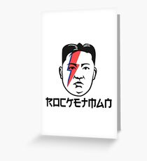 Kim Jong Un - Rocketman with Bowie Bolt Greeting Card