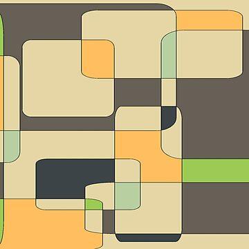 Green, Orange, Gray Pastel Block Pattern by Jessielee72