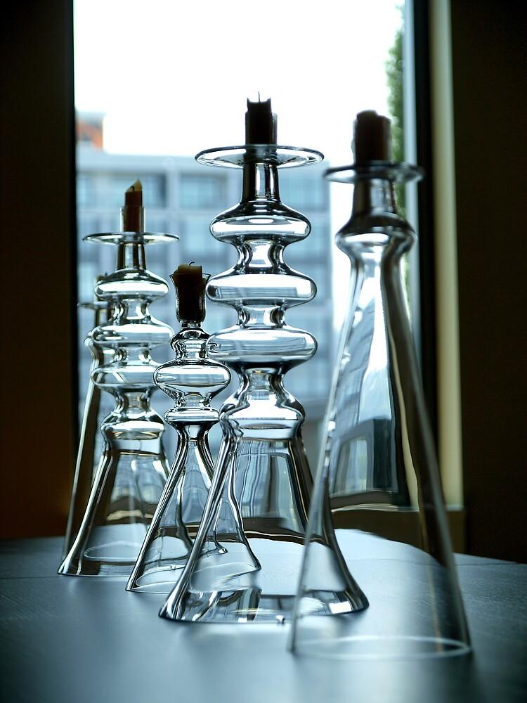 Glass Candlesticks by studyinlight