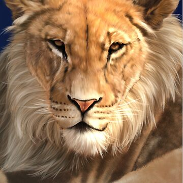 Wildlife Art - Lion Digital Painting by yajyolid