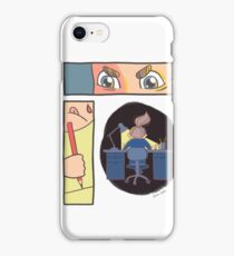 Drawing process - digital painting comic collage  iPhone Case/Skin