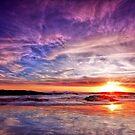 Birubi Sunset by Centralian Images