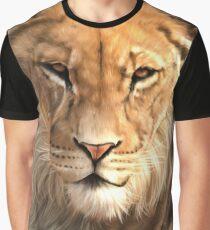 Wildlife Art - Lion Digital Painting Graphic T-Shirt