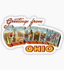 Greetings from Cincinnati, Ohio 1 Sticker
