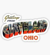 Greetings from Cleveland, Ohio Sticker