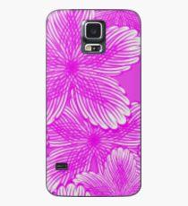 Pink Hydrangea Floral Case/Skin for Samsung Galaxy