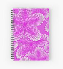 Pink Hydrangea Floral Spiral Notebook