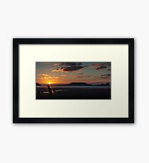 Worm's head and the wreck of Helvetia Framed Print