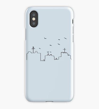 Birds Flying Over City Skyline iPhone Case/Skin