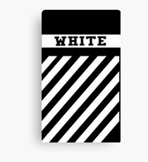Off White Stripe Canvas Print